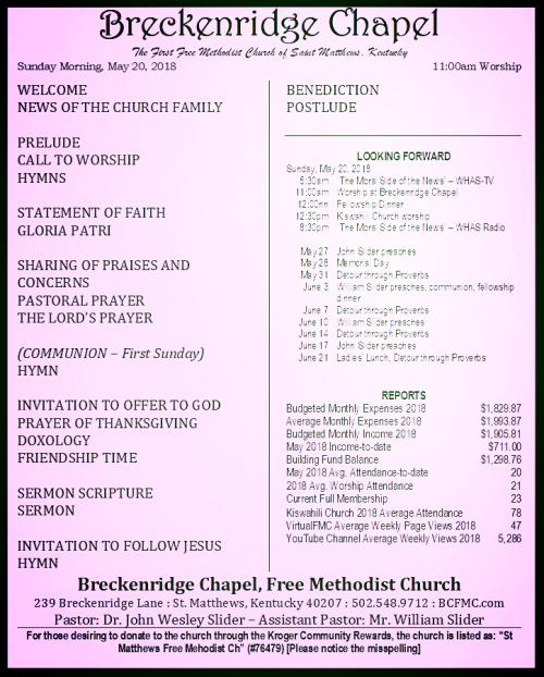 180520 Breckenridge Bulletin