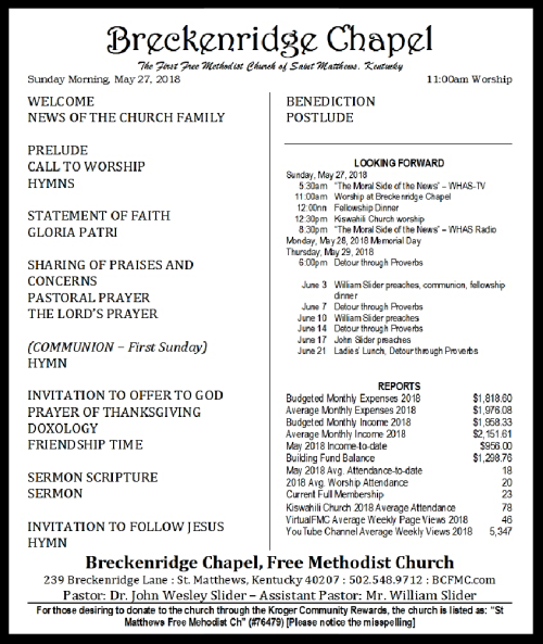 180527 Breckenridge Bulletin