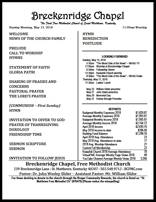 180513 Breckenridge Bulletin