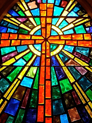 Stained Glass Cross (2)
