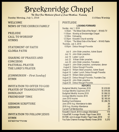 180701 Breckenridge Bulletin