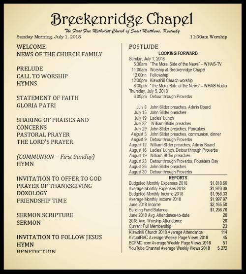 180701 Breckenridge Bulletin