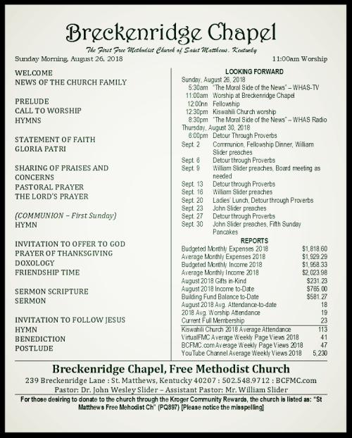 180826 Breckenridge Bulletin