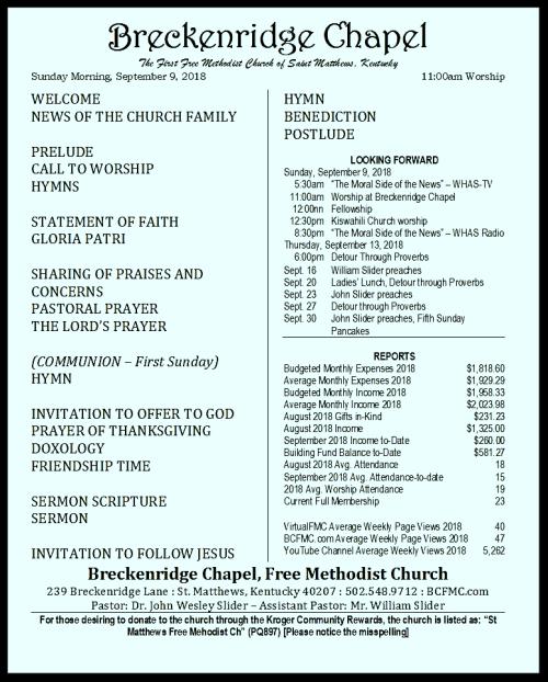 180909 Breckenridge Bulletin