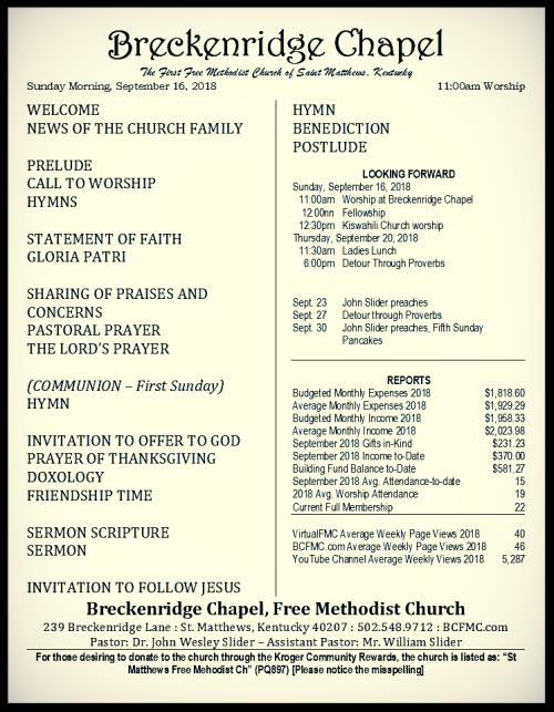 180916 Breckenridge Bulletin