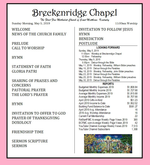 190505 Breckenridge Bulletin