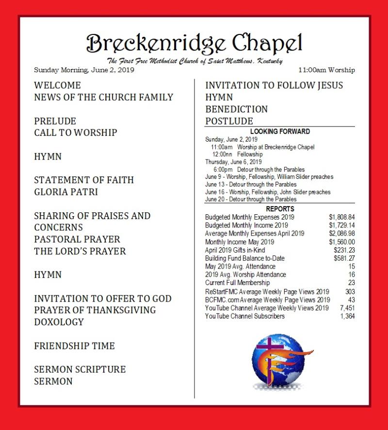 190526 Breckenridge Bulletin