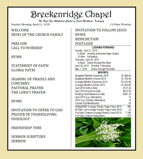 190421 Breckenridge Bulletin
