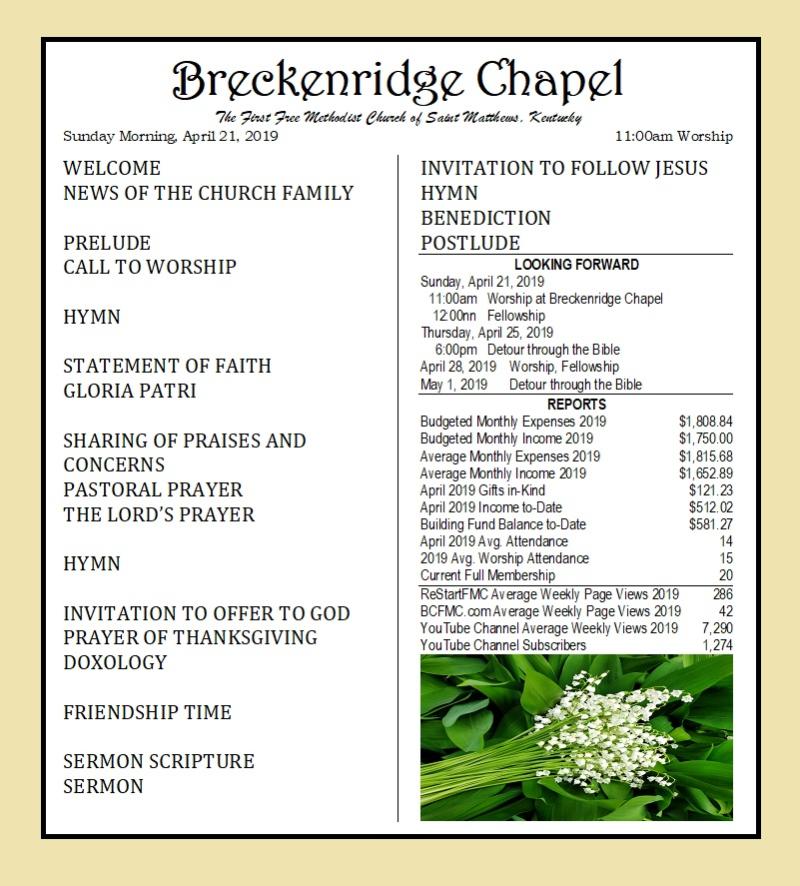 190421 Breckenridge Bulletin