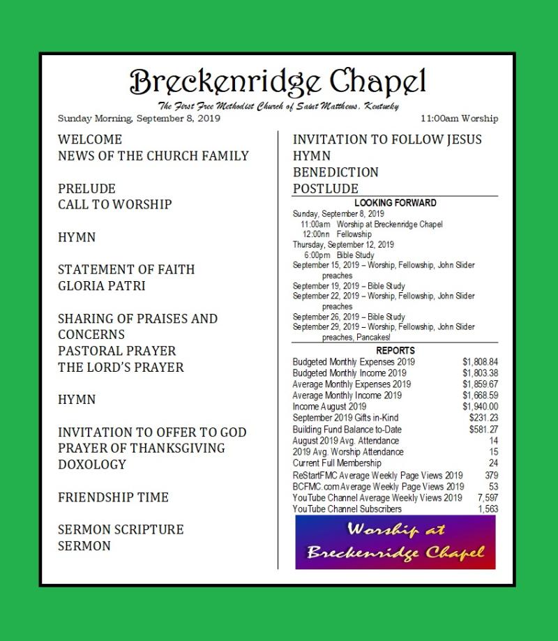 190908 Breckenridge Bulletin