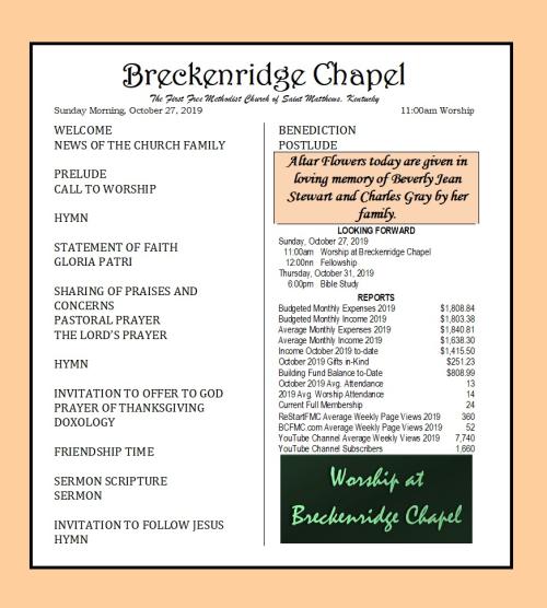 191027 Breckenridge Bulletin